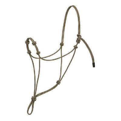 AV FOUR KNOT ROPE HALTER,BK/TN